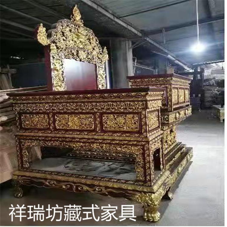 藏式家具 尼泊尔款法座 藏式法座 定制藏式法座